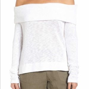 Perfect off the shoulder white sweater!